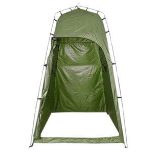 텐트 및 피난처 업그레이드 버전 캠핑 화장실 텐트 야외 단일 사람 목욕 샤워 휴대용 드레싱 계정 이동