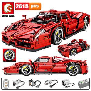Sembo 2615pcs MOC remota cidade Sports Car Controle Building Blocks Technic RC Racing Car Modelo Criador Tijolos brinquedos para meninos
