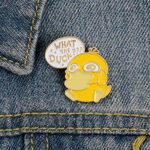 Nueva Pato amarillo regalo Broche animado personaje de dibujos animados lindo esmalte joyería de la manera creativa para los niños de la solapa de la Mujer Denim Shirts Placa
