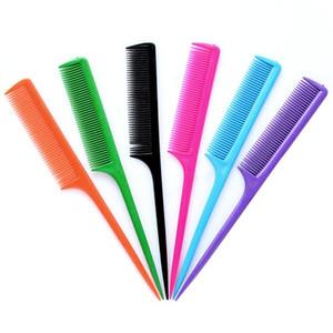 الذيل الحلوى الملونة البلاستيك التجميل مشط طويل أدوات تصفيف الشعر كومز فرشاة الشعر الحلاق التصميم الرئيسية صالون تجميل 0 09zm B2