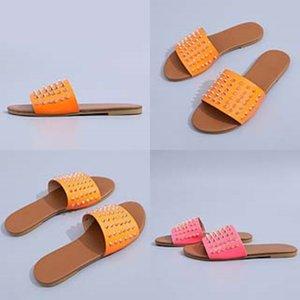 Eel Leater las mujeres! Wo-Ig de calidad zapatillas de marca las sandalias planas Soe Dener Soes Slide Soes baloncesto Soes Casual flip flop G02 # 226 # 781