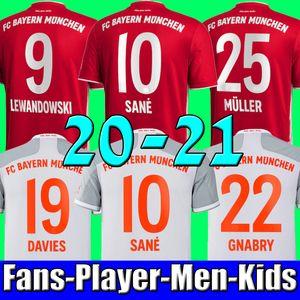 20 21 10 SANE LEWANDOWSKI بايرن ميونيخ Gnabry كرة القدم جيرسي 2020 2021 جيرسي ال120 قميص كرة القدم NIANZOU 23 MUNCHEN الرجال + KIDS مجموعة موحدة
