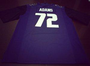 Donna-Uomo della gioventù # 72 Trey Adams Washingtonn Huskies del calcio Jersey formato s-4XL o personalizzato qualsiasi nome o numero di maglia