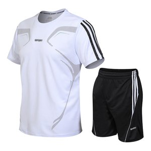 New sports suit summer fitness men's quick-drying short-sleeved clothes running loose men's suits fit leisure sports jogging designer sports