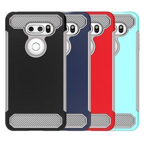 Для LG V30 Корпус из углеродного волокна Hybird Soft TPU Hard PC Back Cover чехол для телефона LG Stylo 4 Stylo3 K10 2018 года