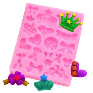 Cartoon Crown Bow Tie Silicone Fondant Cake Mold Cupcake Jelly Candy Chocolate cake Decoration Baking Tool Moulds