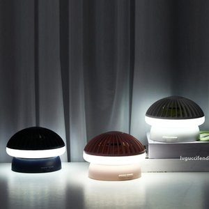 Creative Mushroom Lamp Table Fan Dual-use Mute Large Wind Usb Charging Fan Summer Portable Small Fan with Night Light LED Lamp free shipping