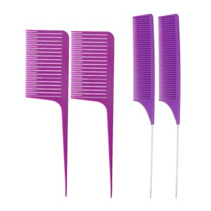 4x feinzahnigen breit gezahnten Weave Hervorhebungen Folierung Haarkämme für Salon