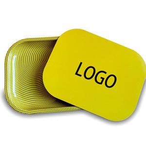 Design Criativo New Arrival cigarro Bandeja Do Rolling Tinplate com impressão a cores de cobertura magnética, Tabaco Herb Grinder Acessórios