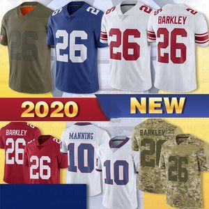 8 Daniel Jones 26 Saquon Barkley Männer Jersey 10 Eli Manning 15 Brandon Marshall Collins Sterling Shepard genähtes Trikots 2020 Hot