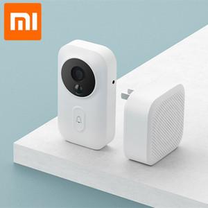 Xiaomi mijia умный дверной звонок WiFi камера видеодомофон беспроводной двери новейший ИК д.в. идентификационную лицо колокол для офиса дома mihom