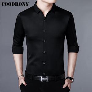 COODRONY Brand Men Shirt Autumn New Arrival Casual Shirts Long Sleeve Cotton Shirt Men Streetwear Plus Size Business Dress 96009