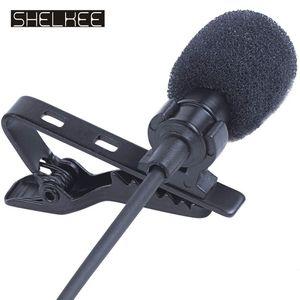 Микрофон Аксессуары SHELKEE Всенаправленно Мини Аудио Микрофон Микрофон 3,5 мм Jack Lavalier Tie клип микрофон для речи Leture Интервью K песню