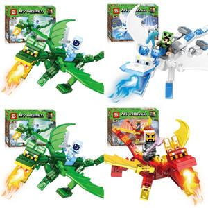 9PCS LOT dos desenhos animados Mini Figuras Minifig Tijolo Building Blocks caçoa o presente brinquedo educativo # 216