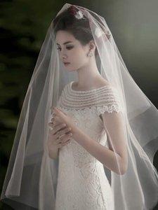 Düğün Aksesuarları Basit Tek katmanlı İsviçre Düz İplik için Gelin Veil Düğün Aksesuarları 3m 1,5m Kısa Veil 5m Süper Uzun Yumuşak Veil