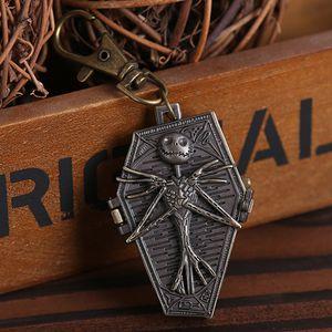 Keychain Taschen-Uhren Albtraum vor Weihnachten Keychain Quarz-Taschenuhr für Geschenke und Sammlung Männlich Weiblich Reloj Geschenk-Sammlung