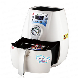 1300W Bianco vuoto della pressa di calore di sublimazione 3D Mini pressa di calore della stampante per Tazze Telefono Caso