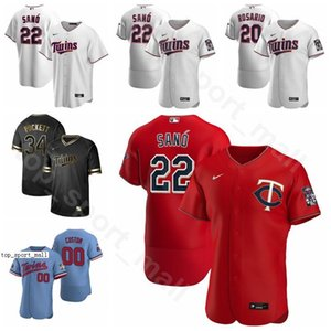 2020 Minnesota Twins Baseball 22 Miguel Sano Jersey 17 Jose Berrios 2 Luis Arraez Jake Odorizzi Mitch Garver Kenta Maeda Uomini Donne Kid