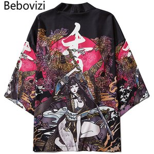 heap Asia & Pacific Islands Clothing Bebovizi Summer Beauty Samurai Traditional Kimono Japanese Anime Clothes Cardigan Cosplay Men Women ...