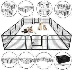 8 Panel 24 30 39 metallo Dog Cat Esercizio Fence Box Kennel sicuro per animali domestici