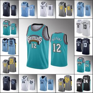 Men MemphisGrizzliesBasketball Jersey Ja Morant Jaren Jackson Jr. Dillon BrooksNBA 2019-20 Jerseys