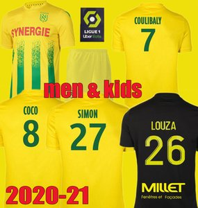 Hommes enfants 20 21 FC jersey de football Nantes Kit de maillot pied 2020 2021 SIMON LOUZA A TOURE BLAS COCO COULIBALY chemises de football