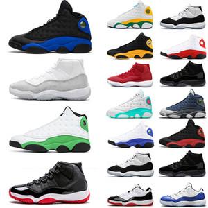 nike air jordan retro des chaussures de basket-ball pour hommes 11 13s Lucky Green Hyper Royal Playground Flint Concord Bred Chicago baskets de sport hommes taille 13