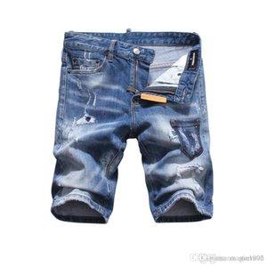 2019 Fashion Designer Good Quality Mens Distressed Ripped Biker Jeans Slim Fit Motorcycle Biker Denim For Men Hip Hop Mens Jeans B18
