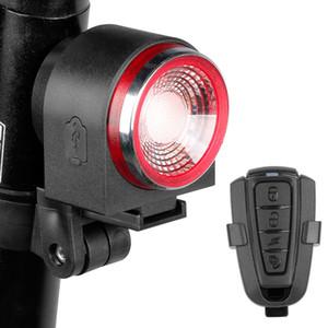 ANTUSI A8 Route alarme anti-vol de verrouillage automatique frein à vélo Feu arrière Télécommande vélo Feu arrière VTT sans fil de Bell