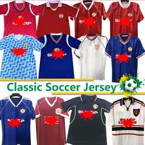 Retro 2002 United Soccer camisa de futebol MAN Giggs SCHOLES Beckham RONALDO CANTONA Solskjær 06 07 08 Manchester 94 96 97 98 camisas clássicas