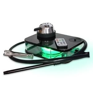 Hersteller Heißverkaufshacke Set Glas Bong Black Box Acryl Bücher Huka mit LED-Licht Rauchen Zubehör