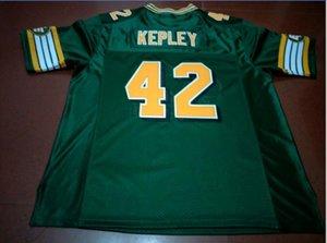 Donna-Uomo della gioventù Vintage Edmonton eschimesi # 42 Dan Kepley del calcio Jersey formato s-5XL o personalizzato qualsiasi nome o numero di maglia