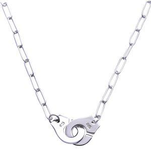 Оптовая цена Франция Известный бренд Ювелирные изделия Dinh Van Ожерелье для женщин Мода Ювелирные Изделия 925 Стерлинговые серебряные серебряные Ожерелье Подрушение Choker Choker