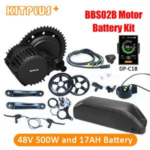 Bafang 48V500W vélo électrique Kit de conversion 500W avec batterie 48V BBS02 moteur Vélo 17AH