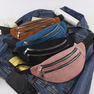 ABER cinto Bolsa para mulheres lona das senhoras chext Pacote novo Moda Dinheiro Peito Bolsas pacote Bum Belt Bolsas Mulheres Corduroy cintura