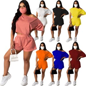 womens fashion 2 Two Piece tracksuits summer T-Shirt biker Shorts casual Outfits sets jogging sweatsuits Plus Size clothes
