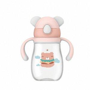 Wei Séoul infantile Sippy LUN Coupe Nursery résistant anti Shatter suffocation Poignée Fuites Gravity Ball enfants Straw Cup # FHGd