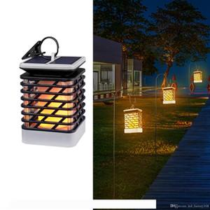 Impermeable al aire libre luces solares LED parpadeo de la llama de la antorcha linterna luces colgantes Ambiente lámpara decorativa de Camino del jardín cubierta Christm