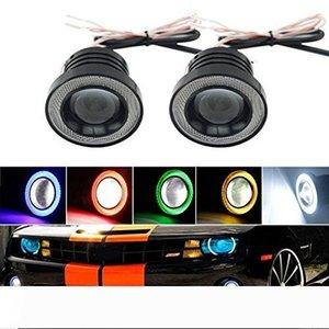 DRL Daytime Running Light Universal Angel Eyes Fog Lamp COB Led Light Bulb Lamp 6 Colors For Car Auto