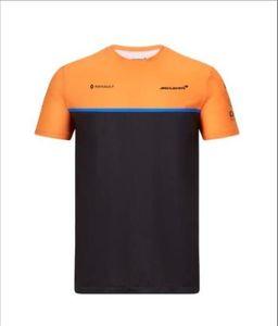 같은 사용자 정의와 F1 경주 맥라렌 2020 년 팀 설정까지 T 셔츠 폴리 에스터 빠른 건조 팀 스포츠 짧은 소매