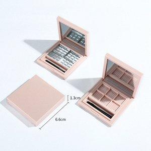 Leer Pallete für Lippenstift Leeren Makeup-Palette Fall für Lidschatten Rouge Lippenstift Kosmetik DIY Pallete, 6 Grids Rosa vAjP #