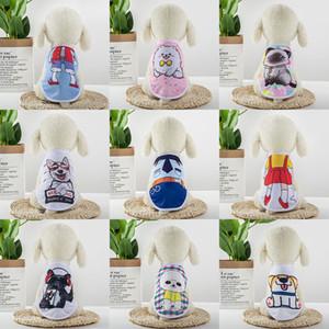 Perro de la historieta ropa para mascotas ropa del gato de peluche Bichon Bomei malla transpirable primavera y el verano chaleco XD23786 delgada