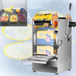 Ручной пресс Square Box упаковочная машина из нержавеющей стали электрические Полуавтоматическая быстрого Ready Food Tray Герметизация MachineHand Пресс Square Box Pa