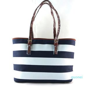 Bolsas Perfeito Star Quality de Nova Mulheres com listras bolsa de ombro saco de compras Grande saco