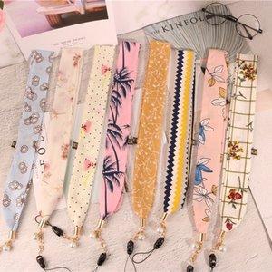 Jyjrk Tiktok mobile phone accessories long silk scarf lanyard hanging Creative Gift pendant Diy pendant neck creative gift handmade diy hang