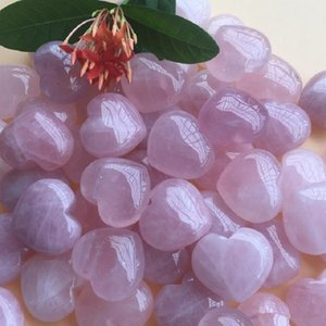 Natural Rose Quartz Heart Shaped Pink Crystal Carved Palm Love Healing Gemstone Lover Gife Stone Crystal Heart Gems Free Shipping