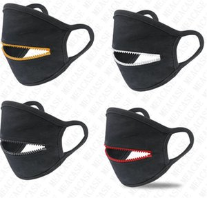 Zipper Mask Reusable Washable Face Masks Quick dry dust-proof Zip Open Cycling Mouth Cover Eat Drink In Public sun-proof SALE New D72307