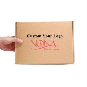 100PCS / lot Gewohnheit Wellpappstanzpackung Box Brown Box mit Rose Versand rot Wellpappe Versand