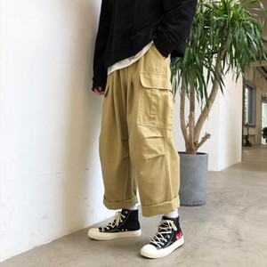 Loose Fit Cargo Pantalons Hommes Streetwear Joggers Hip Hop Pantalons Pantalons Baggy piste de jogging Hommes d'hiver jambe large pantalon plus 5XL