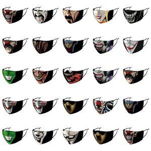 Heath Heath Ledger Joker punta regolabile Maschera Maschera per il viso semplice e copertura Ledger Strap maschere Designer Earloop confortevole Very Light WgrLa